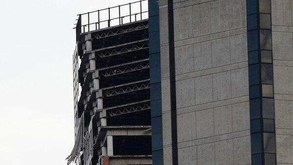 Así está la Torre de David en Caracas tras el sismo (AFP)