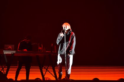 El rapero se presentó ante más de 25 mil personas (Franco Fafasuli)