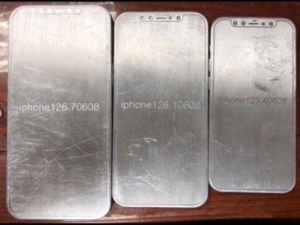 Supuestas maquetas del iPhone 12.