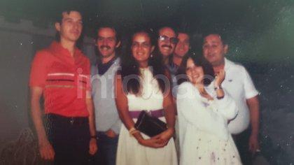 Casal y sus compañeros del juzgado Q, en 1979.