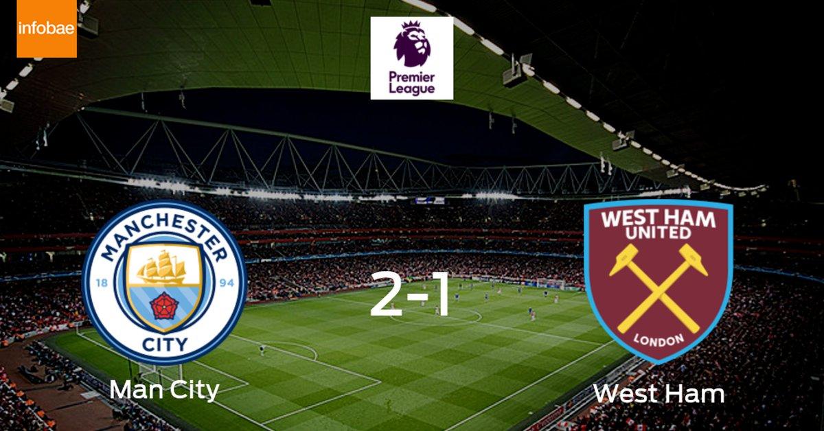 2-1: Manchester City se impone a West Ham en casa - Infobae