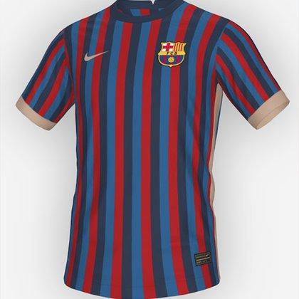 Así sería la camiseta del Barcelona en la temporada 2022/2023