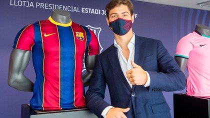 Andrés Solano, el lateral derecho colombiano que entra como refuerzo al FC Barcelona B. (Víctor Salgado/FC Barcelona)