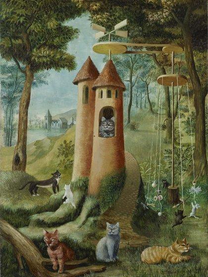"""""""Paraíso de los gatos"""" (1955), de Remedios Varo, en colección privada"""