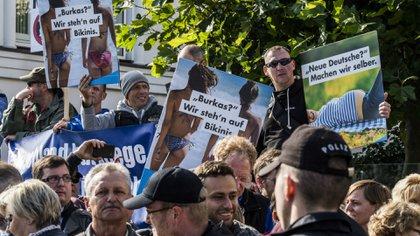 Una manifestación de simpatizantes de Alternativa para Alemania (AFP)