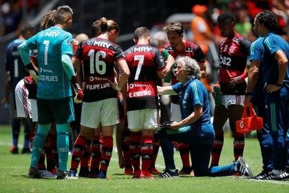 Jorge Jesus salió campeón de la Copa Libertadores en su primer año como entrenador del Flamengo - REUTERS/Adriano Machado