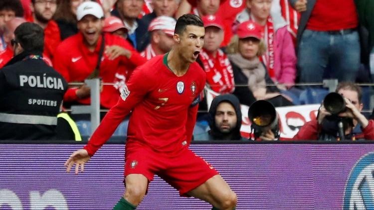 Cristiano Ronaldose consagró campeón de la National League con Portugal (Reuters)