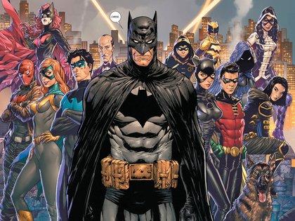 Batman, Nightwing, Robin, Damian Wayne, Batgirl, Batwoman, Catwoman, entre otros, conforman la bati-familia