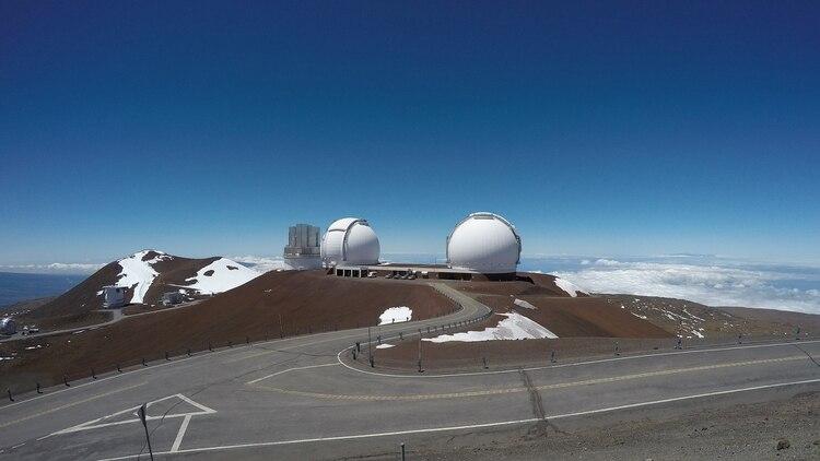 Búsqueda de vida extraterrestre. El equipo liderado por Lucas Paganini utilizó instrumentos de medición que se encuentran el Observatorio Keck, ubicado en el volcán Mauna Kea en Hawai. (NASA/Paganini)