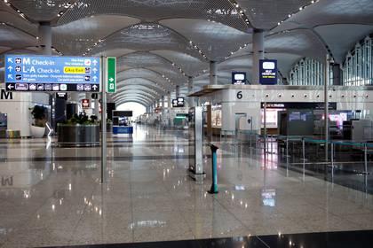 El aeropuerto de Estambul, casi desierto durante el brote de coronavirus, 29 de marzo 2020. REUTERS/Umit Bektas