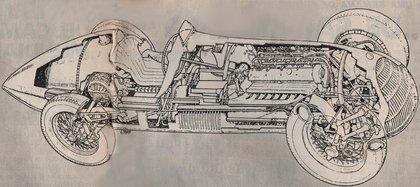 """El primer auto campeón mundial al desnudo: la """"Alfetta"""" que fue codiciada por los Nazis."""