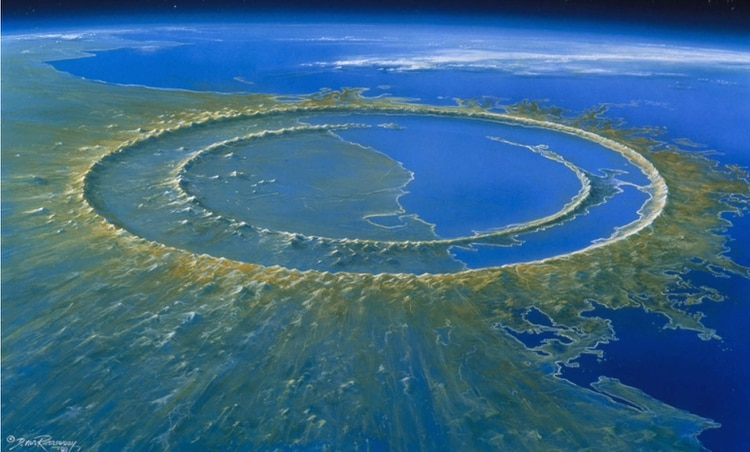 In Yucatan, you can still see the traces of the impact of the asteroid that fell 66 million years ago