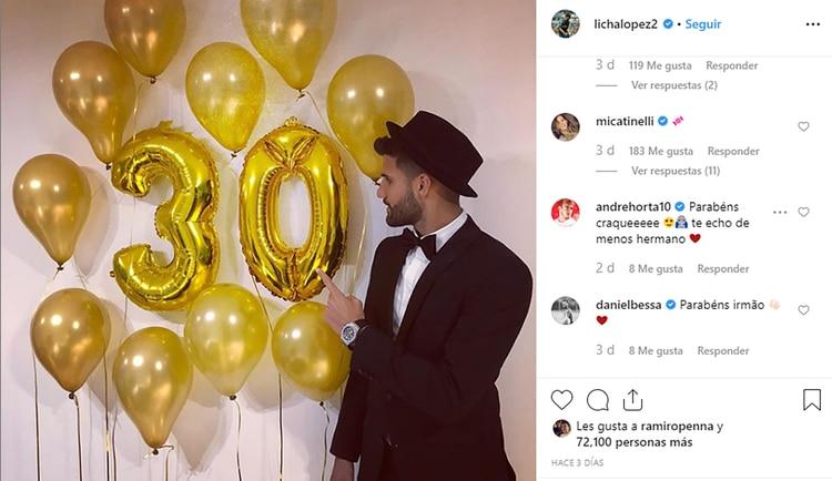 """El mensaje """"dulce"""" de Mica Tinelli por el cumpleaños de Licha López (Foto:Instagram)"""