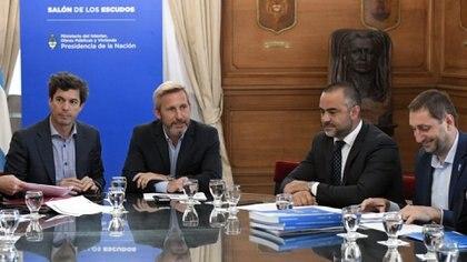 Rogelio Frigerio, la semana pasada, en el balance de gestión de Interior (Prensa Ministerio del Interior)
