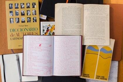 Cuadernos de notas de Chitarroni. Foto: Santiago Ortiz