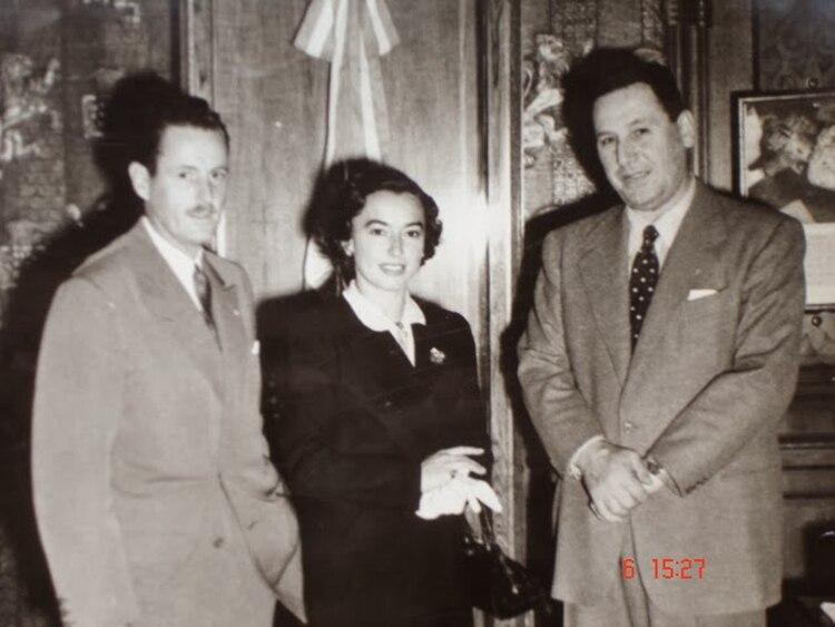 Heraldo Weiss, Mary Terán y el general Juan Domingo Perón
