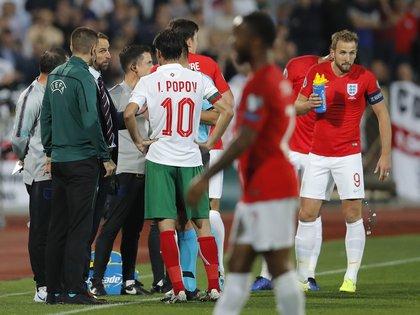 El partido terminó 6-0 a favor de los ingleses (AP Photo/Vadim Ghirda)