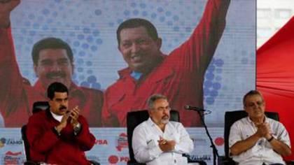 Nelson Martínez y Eulogio del Pino junto a Nicolás Maduro