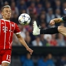 Soccer Football - Champions League Semi Final First Leg - Bayern Munich vs Real Madrid - Allianz Arena, Munich, Germany - April 25, 2018 Bayern Munich's Rafinha in action with Real Madrid's Lucas Vazquez REUTERS/Kai Pfaffenbach