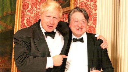 El primer ministro británico Boris Johnson junto al oligarca ruso Alxander Temerko en una foto sin fecha