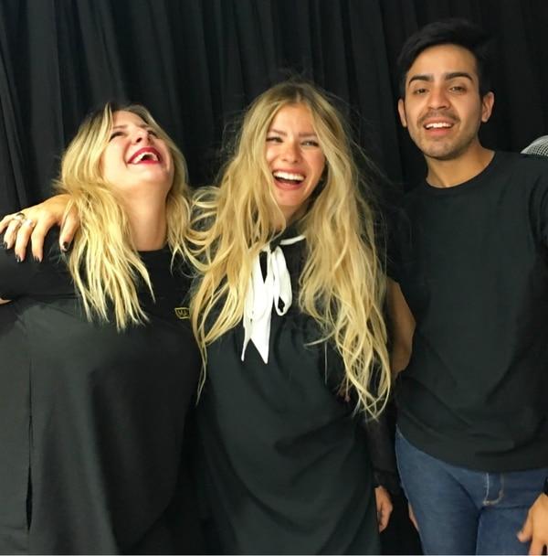 Su equipo beauty: Gabriela Petracca y Luciano Aparicio, su peinador, del equipo de Juan Manuel Cativa de Mala Peluquería.