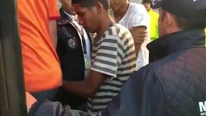 Ciudadanos venezolanos detenidos por su participación en actos vandálicos durante las protestas en Colombia