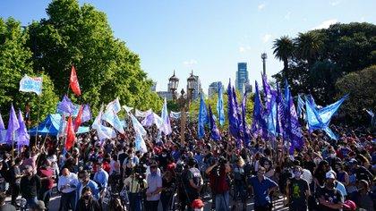 La protesta también se replicó en la Rural de Palermo (Franco Fafasuli)