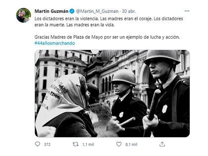 El mensaje de apoyo de Guzmán a las Madres de Plaza de Mayo