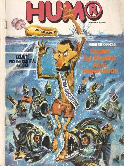 Tapa de revista Humor de diciembre de 1979