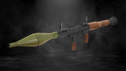 Un RPG 7 soviético fue usado contra fuerzas de seguridad federales en 2015 (Fotoarte: Steve Allen/Infobae)