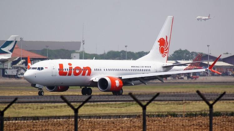 Un 737 MAX 8 de Lion Air, como el que se accidentó en octubre de 2018 (Wikipedia)