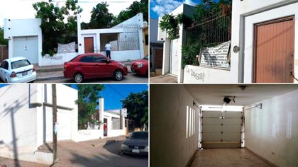 """La casa de """"El Chapo"""" cuenta con un tunel que conecta a un arroyo y otra propiedad (Fotos:  http://presencial.sae.gob.mx/)"""
