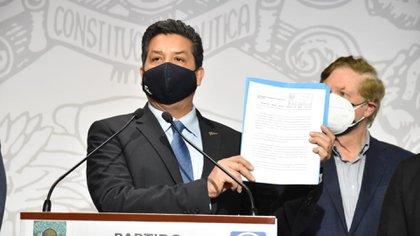 Francisco García Cabeza de Vaca presentó una queja en la Cámara de Diputados por no respetar el debido proceso de su desafuero solicitado por la FGR (Foto: Cortesía / PAN)