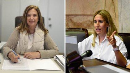 Las diputadas Carmen Polledo y Jimena Latorre