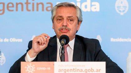 Alberto Fernández, anoche, en la Quinta de Olivos