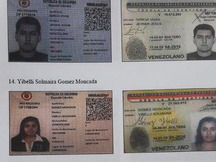 Entre los agentes chavistas identificados también había mujeres