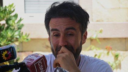 Leopoldo Luke ofreció una rueda de prensa desde su casa este domingo (Nicholas Stalberg)