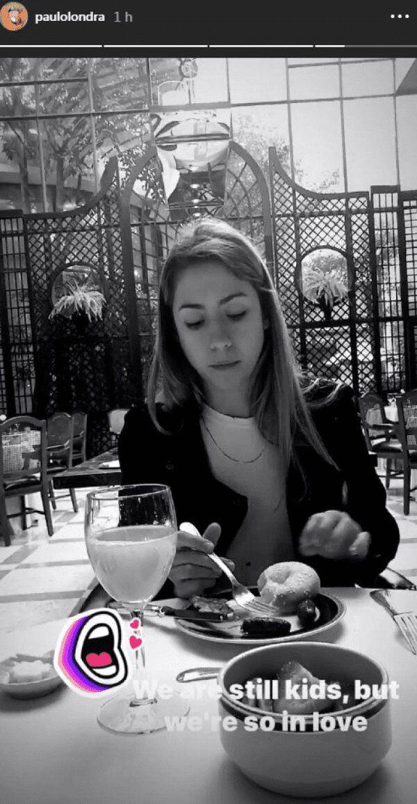 La historia de Instagram de Paulo presentando a Rocío