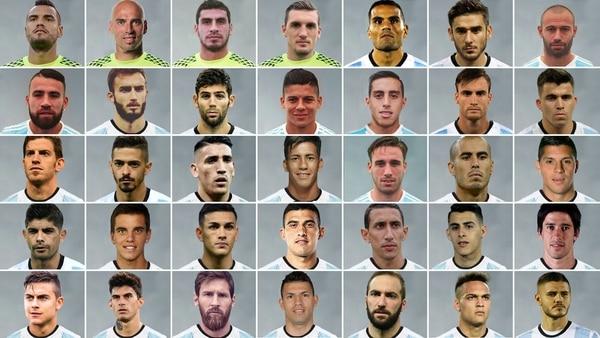 Los 35 preseleccionados de la Argentina para el Mundial de Rusia 2018