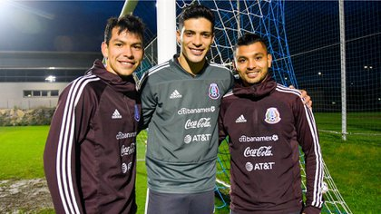 """Raúl Jiménez, Hirving """"Chucky"""" Lozano y Jesús """"Tecatito"""" Corona son los jugadores mexicanos más destacados en ligas europeas (Foto: Twitter/ @miseleccionmxEN)"""