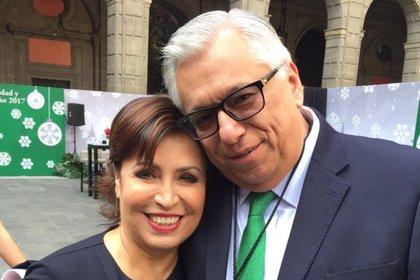 Rosario Robles y Ramón Sosamontes (Foto: Twitter)