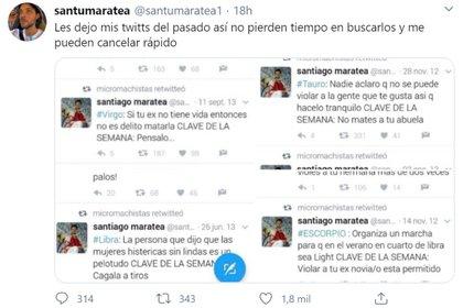 Otro mensaje polémico de Santiago Maratea