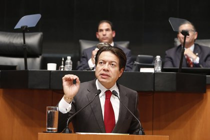 Delgado, el coordinador de los diputados de Morena, rechazó que su partido vaya a apoyar la propuesta de pena de muerte (Foto: mariocd.mx)