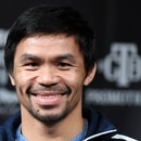 LAS VEGAS, NEVADA - JANUARY 16: WBA welterweight champion Manny Pacquiao smiles during a news conference at MGM Grand Hotel & Casino on January 16, 2019 in Las Vegas, Nevada. Pacquiao will defend his title against Adrien Broner on January 19 at MGM Grand Garden Arena in Las Vegas. Ethan Miller/Getty Images/AFP