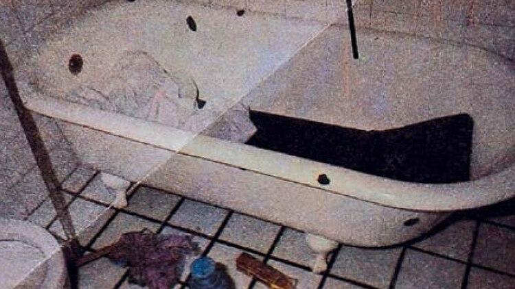 El baño de la casa de los Puccio