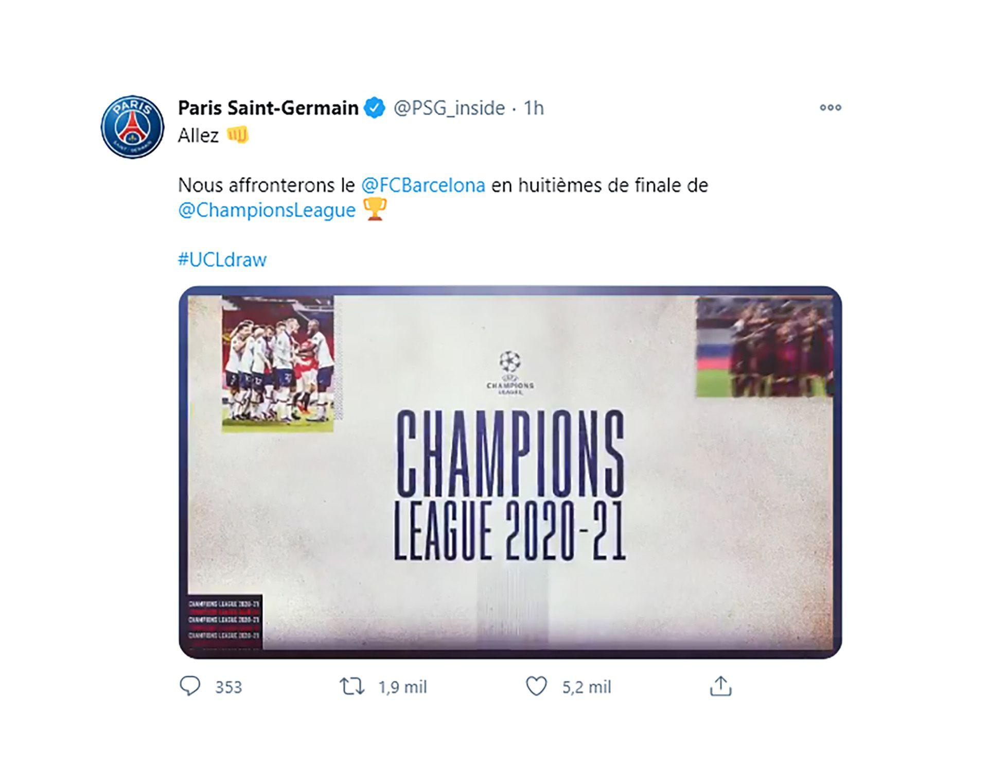 PSG tuit