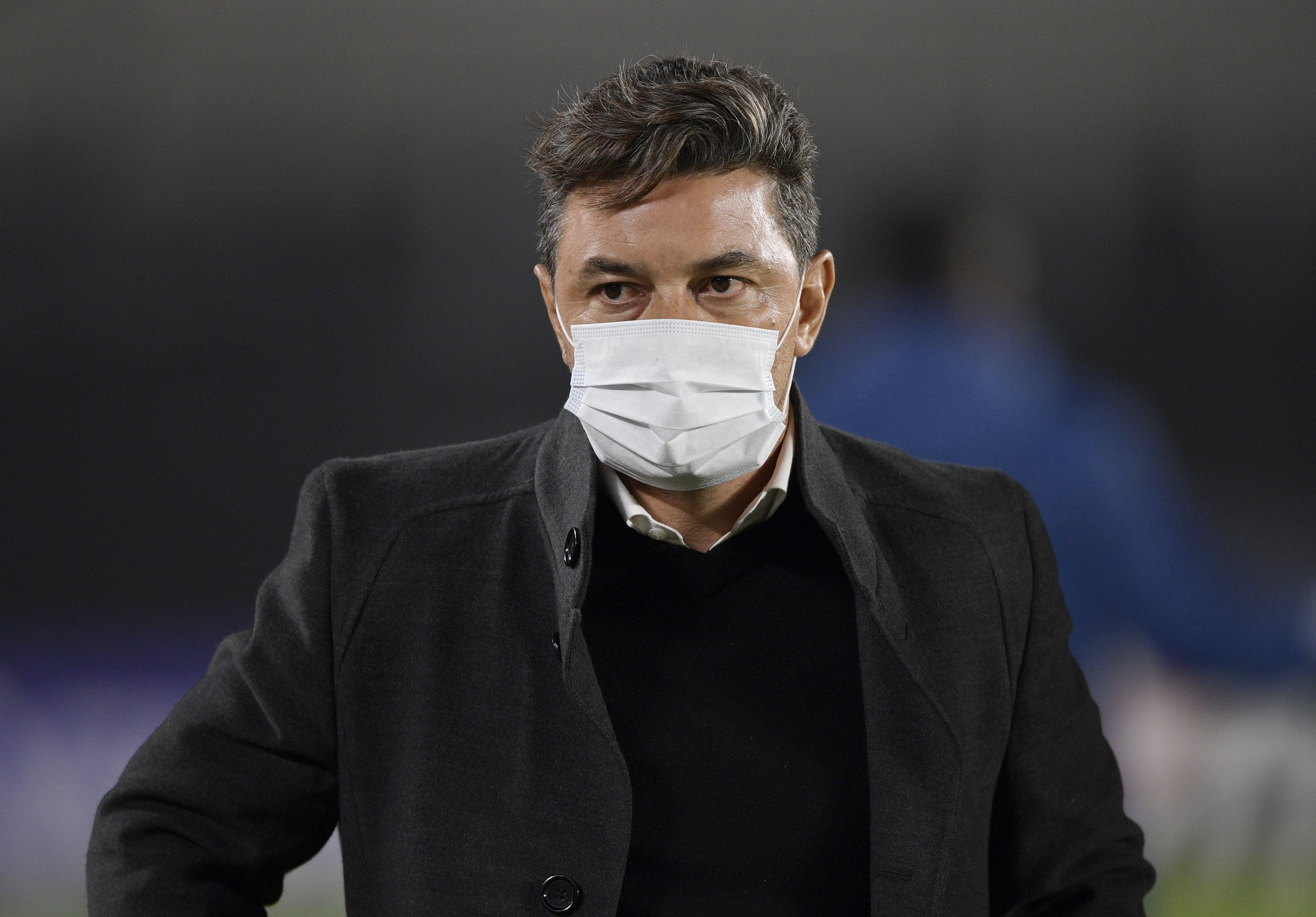 Marcelo Gallardo valoró el gran esfuerzo que hicieron los jugadores de River pese al difícil momento que atravesaron producto del brote de coronavirus (REUTERS/Juan Mabromata)