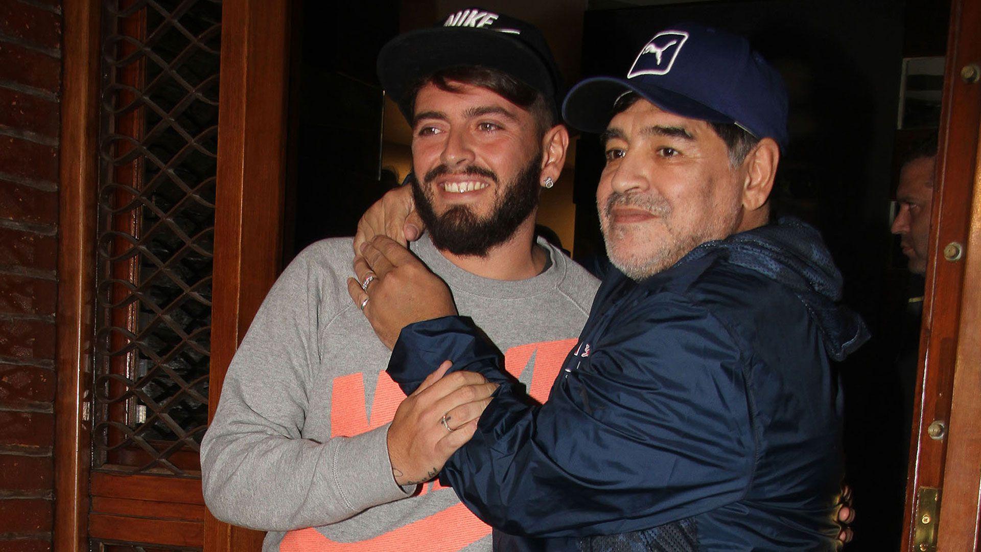 """Diego Maradona y Junior se reencontraron cuando el joven napolitano participaba del """"Bailando"""""""