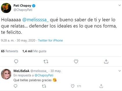 Pati Chapoy emitió un tuit al respecto (Foto: Twitter: @chapoypati)