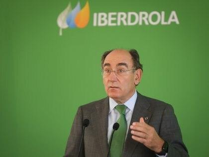 30/09/2020 El Presidente de Iberdrola, Ignacio Galán, durante la inauguración de la planta fotovoltaica del Andévalo de Huelva. ECONOMIA ANDALUCÍA ESPAÑA EUROPA HUELVA SOCIEDAD MJ LOPEZ/ EUROPA PRESS